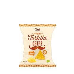 Nachos de maíz con queso