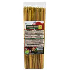 Espaguetis tricolor