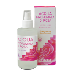 Agua perfumada de rosas