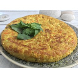 Tortilla vegana con tofu