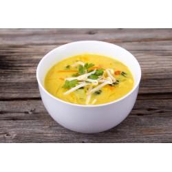 Sopa fría de coco y zanahoria