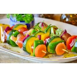 Brochetas de verduras con...