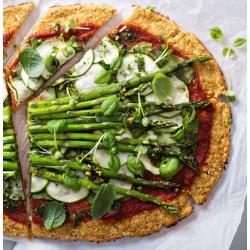 Pizza de espelta con verduras