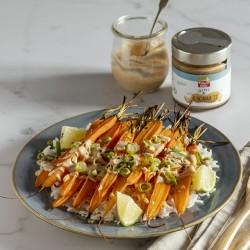 Zanahorias asadas con salsa...