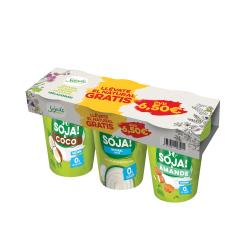Tri-pack yogures de soja...
